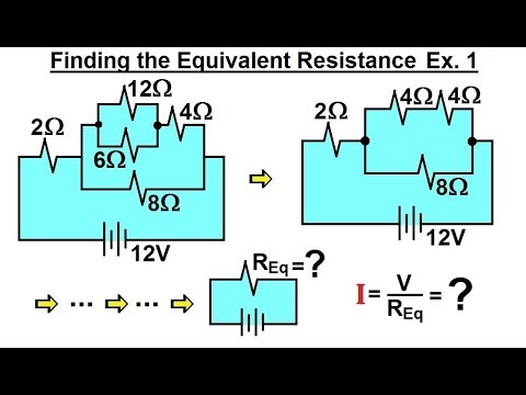 Physics - E&M: Ch 41.3 Ohm's Law & Resistor Circuit Understood (17 of 42) Equivalent Resistance Ex 1