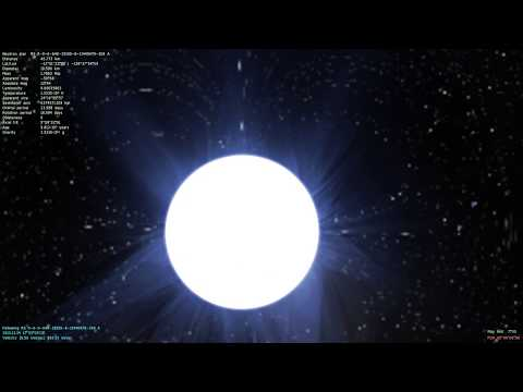 SpaceEngine: Light Distortion Around a Neutron Star