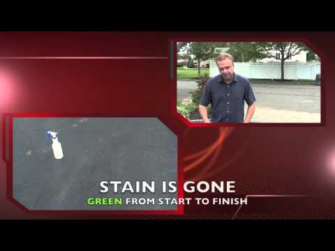 How to clean and remove Oil from Asphalt