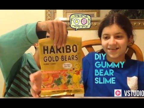 DIY edible gummy bear slime