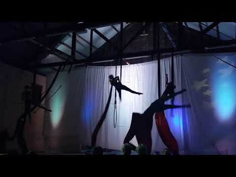 Circus Galactica aerial silk show