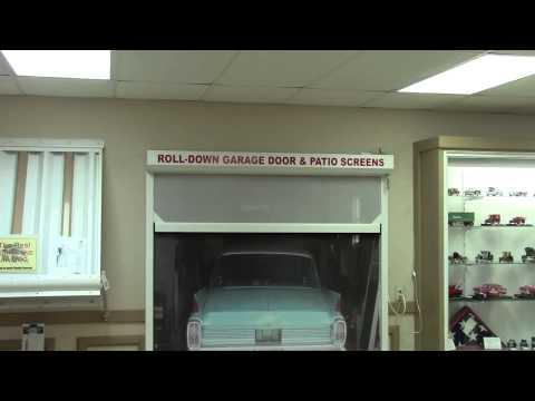 Garage door with Roll-down Screen, patio screen door repair in Tampa