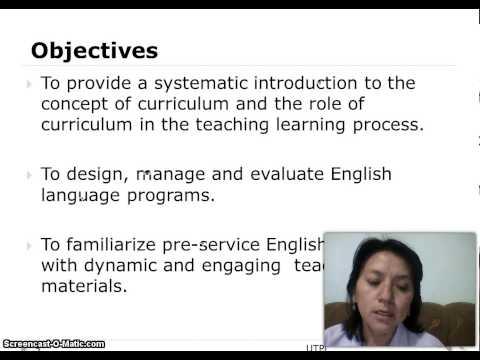 Language curriculum design course