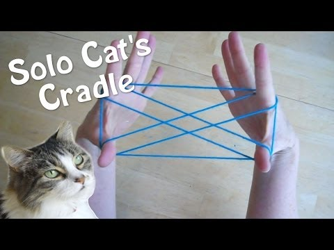 Solo Cats Cradle - How to play with only one person! Step by Step
