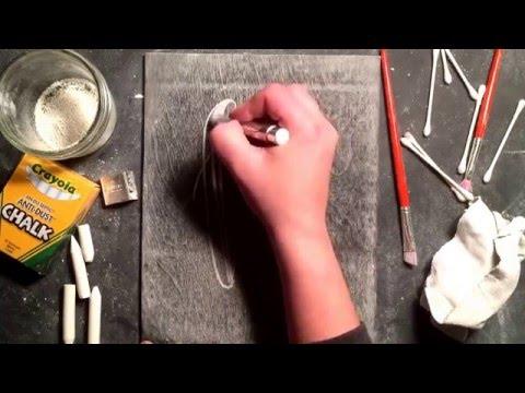 SheShe Design Chalk Script Lettering UPPERCASE V