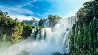 WORLDS PARADISES IN 4K UHD (No Watermarks!) Nature Film + Music to Relax, Study & Relieve Stress