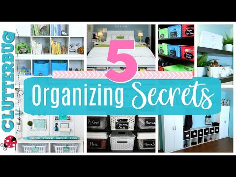 5 Secrets for Home Organizing Success