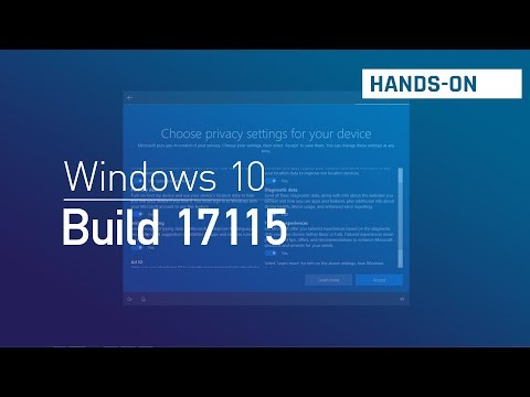 Windows 10 build 17115: Privacy settings during setup and more
