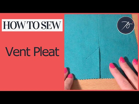 Sewing a Vent Pleat