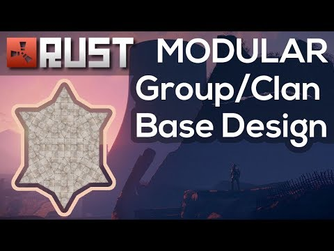 RUST | Modular Group/Clan Base Design | Base Building | 50k stone