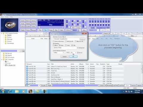 How to encode the CDG Disc for the