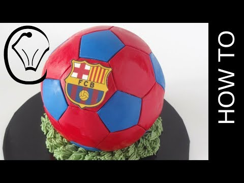 FC Barcelona Soccer Ball Cake by Cupcake Savvy's Kitchen