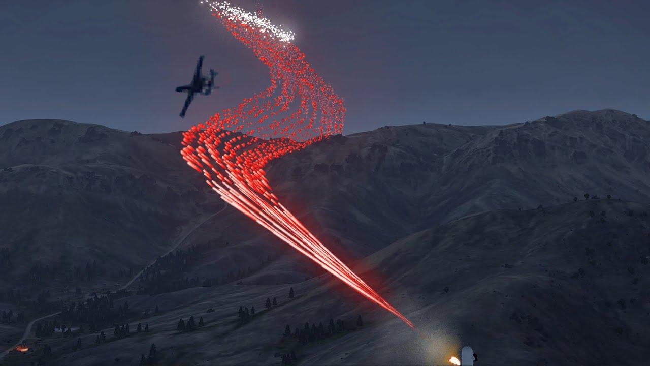 ArmA 3 - A-10 Warthog Brrrt - C-RAM in Action - GAU-8 - Phalanx CIWS - A 10 - Simulation