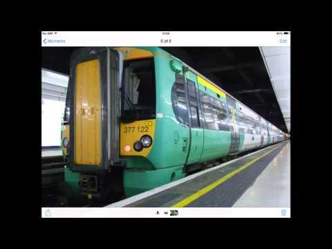Train station announcements at Romford, London Victoria & London Euston