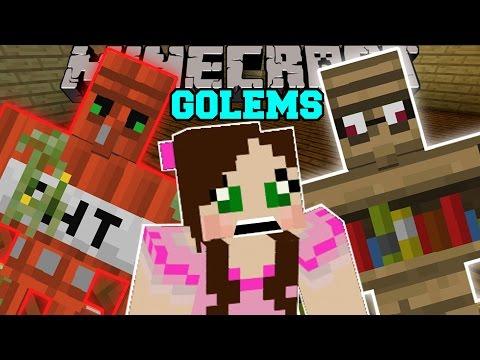 Minecraft: TOO MANY GOLEMS! (TNT GOLEM, DIAMOND GOLEM, EMERALD GOLEM, & MORE!) Mod Showcase