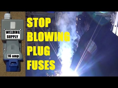 Install 16 amp Industrial Socket for Welder - Stop Blowing 13 amp Plug Fuses using a Blue Cee-Form