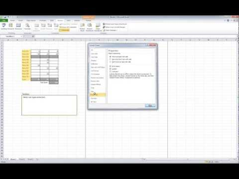 HowTo lock and unlock textboxes in Excel 2010