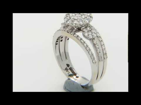 Stylish 14k White Gold Ring 1.14ct. Diamonds with IGI Certificate