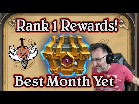 June Rank 1 Rewards and gameplay 🍀🎲 ~ Journey to Un'Goro ~ Hearthstone Heroes of Warcraft