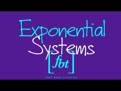 Systems of Exponential Equations [fbt] (Nonlinear Systems Pt. 3)