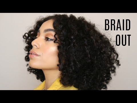 Easy Braid Out using Creme Of Nature *NEW* Pure Honey Collection