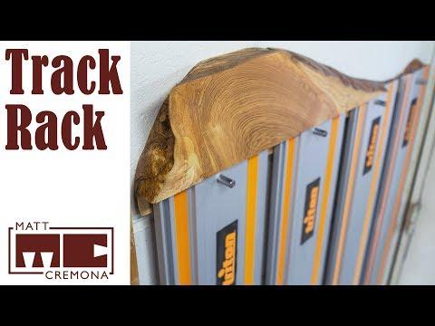 Live Edge Track Saw Track Rack
