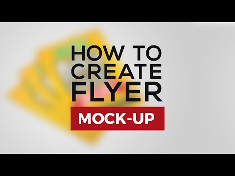 How to Create Flyer Mockup - Photoshop Tutorial
