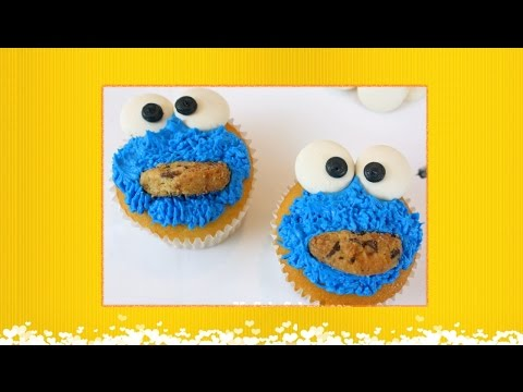 Easy Recipe : How to make Cookie Monster Cupcake Decoration - DIY Projects