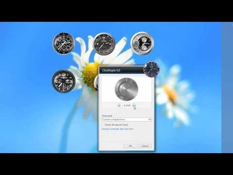Wonderful Set of Analog Clock Gadgets for Windows 7 Desktop
