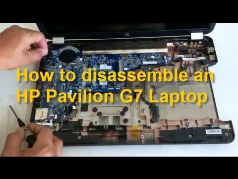 How to replace HP Pavilion G7 notebook motherboard, dc power jack, etc.