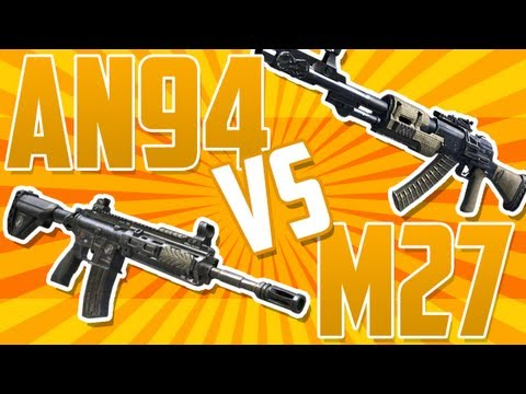 BO2 AN94 vs M27! Black Ops 2 BEST ASSAULT RIFLE? Tips And Tricks Call of Duty BO2