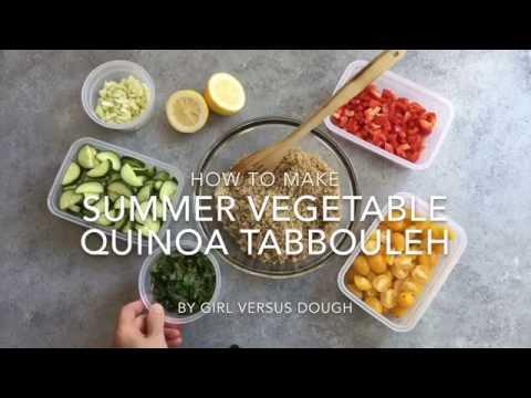 How to Make Summer Vegetable Quinoa Tabbouleh
