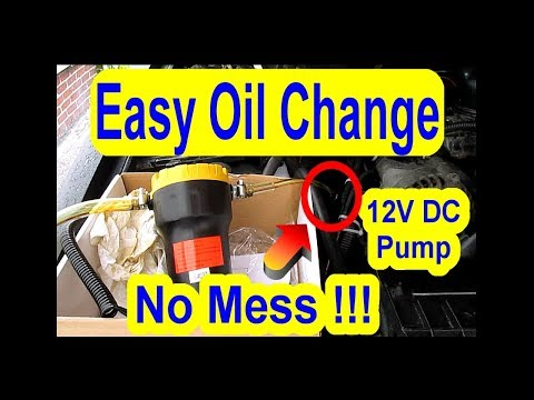 Easy Oil Change - Fast - Simple - Using Cheap 12V DC Pump Extractor - Car Truck Lawn Mower