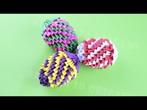 3D Origami Easter beautiful egg made of paper ♡ DIY How to make an egg