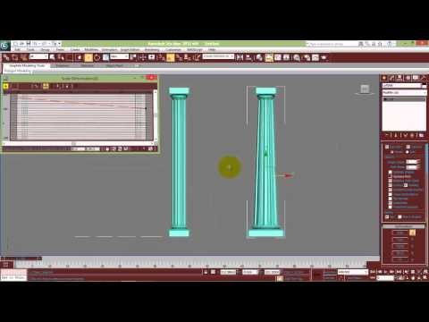 3ds Max Arch Columns modeling