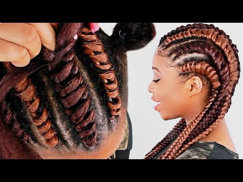 How To: Tree Braid Cornrows FOR BEGINNERS! (Step By Step)