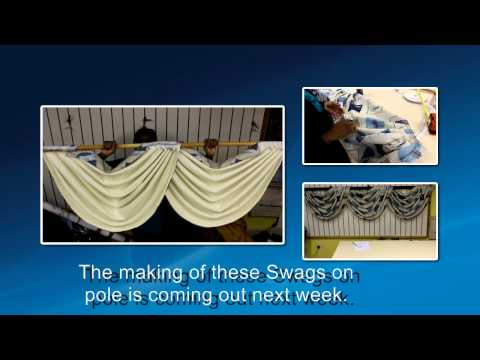 Preview How to make Swags on Pole