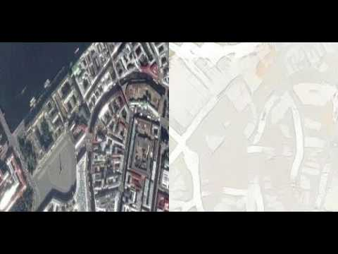 GAN satellite image to map in real time