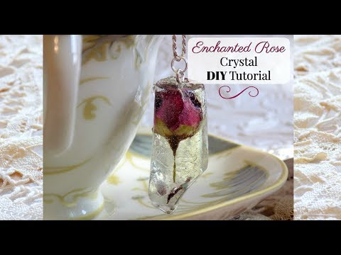 Enchanted Rose Crystal DIY from Beauty and the Beast