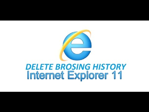 how to delete internet explorer 11 browsing history