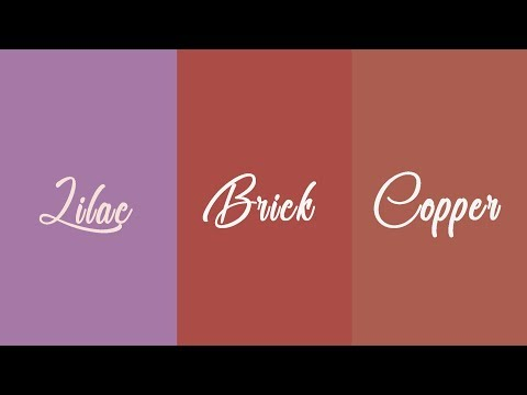 How to color fondant in lilac, brick and copper colors