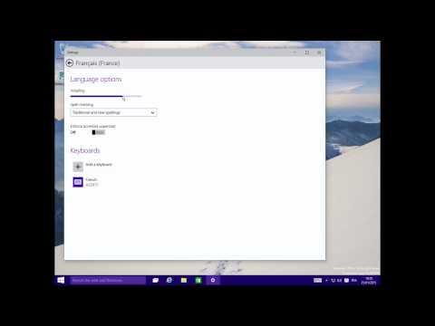 Changer la langue de windows 10 (Anglais en Français par exemple)