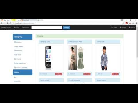 Shopping Cart Tutorial-Bootstrap PHP Mysqli Jquery-Ajax Part 4