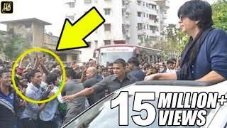 CRAZY Fans Attack Shahrukh Outside Mannat On His BIRTHDAY 2016