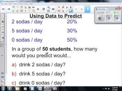 Using Graphs and Data to Make Predictions 7th Gra