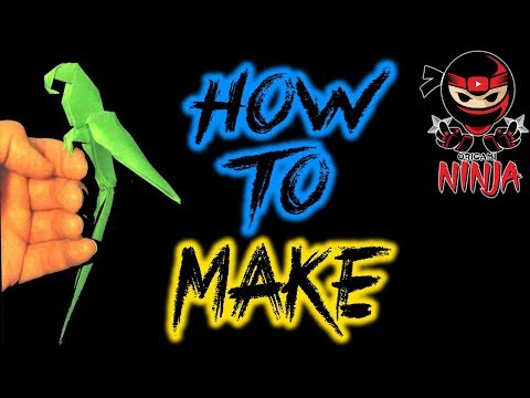 How to make: Origami Parrot. (Manuel Sigro)