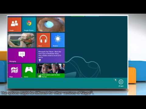 Pin and Unpin Skype® Tile from Start Screen on Windows® 8 PC