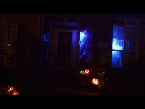 Halloween Night! Projection + Fog Machine + Music + Ghosts = Part 1 video