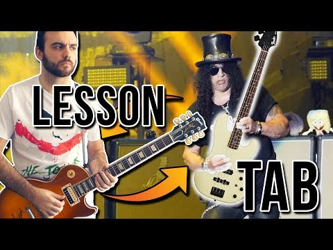 [TAB & SLOW LESSON] - Sweet Child O Mine BUT Bass And Guitar Are Swapped