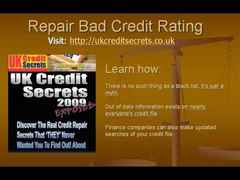 Repair your bad credit rating in the UK